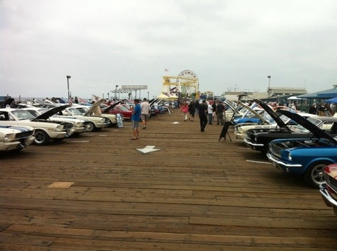 Shelby Car show on the pier
